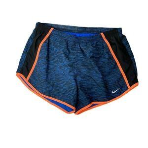 Nike Dri Fit Navy Orange Athletic Running Shorts M
